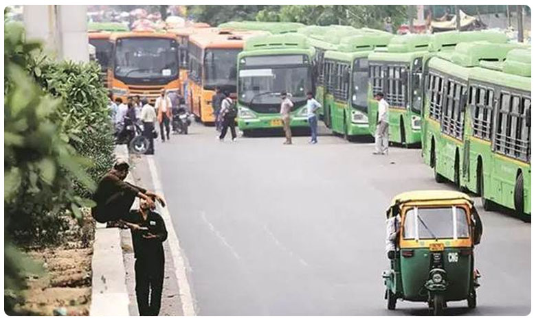 Delhi NCR Transport Strike Over New MV Act, భారీ పెనాల్టీల ఎఫెక్ట్.. ఢిల్లీలో ఎక్కడికక్కడ వాహనాల బంద్!