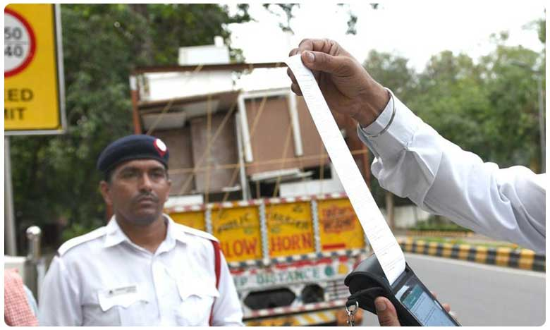 Challan Of Worth 34000 Rupees Been Cut In-Violation Of Traffic Rules Of Traffic Police In Ranchi