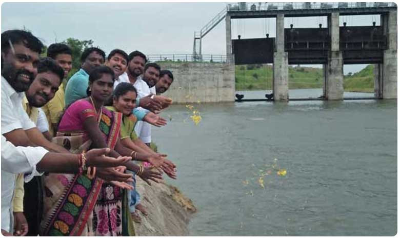 kaleshwaram project water reached to Sriramsagar project