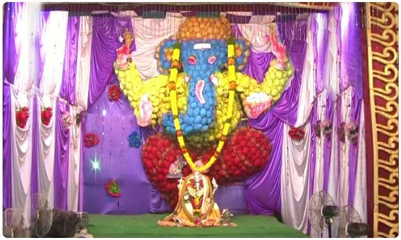 1008 coconuts used in making Eco-friendly Ganesha idol in Prakasam district