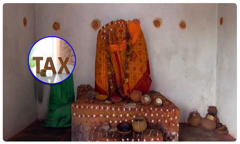 Six lakhs tax tothe Temple in warngal district, అమ్మవారి గుడికి అర లక్ష ట్యాక్స్