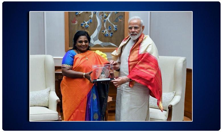 Telangana Governor Tamilisai Meets PM Modi, ప్రధానితో భేటీ అయిన గవర్నర్ తమిళిసై