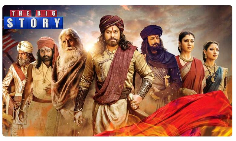 Chiranjeevi Sye Raa Narasimha Reddy Telugu Movie Review, 'సైరా నరసింహా రెడ్డి' రివ్యూ: రొమ్ము విరిచి.. మీసం తిప్పుతూ.. కోటకు వేలాడాడు!!