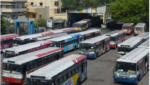 TSRTC strike effect.. CPM Ex mla sunnam rajaiah narrow escape from bus accident, ఆర్టీసీ ప్రైవేట్ డ్రైవర్ స్పీడు.. బురదలో పడ్డ మాజీ ఎమ్మెల్యే..!