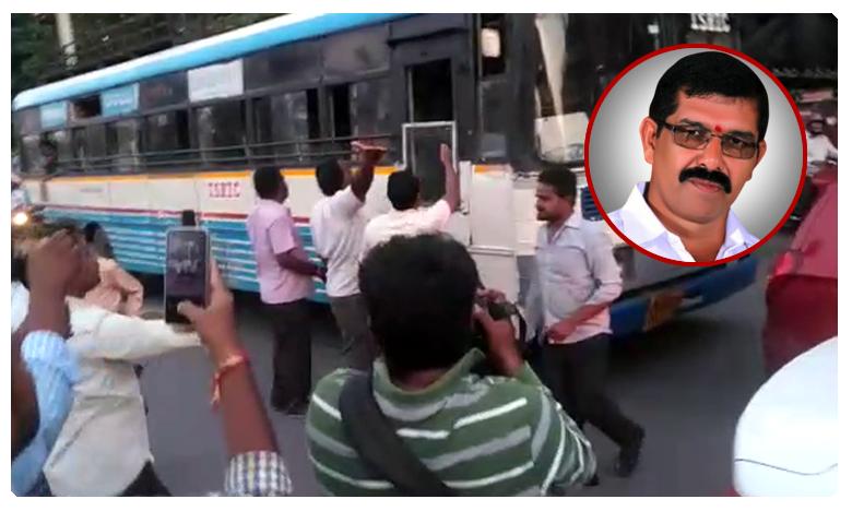 TSRTC Strike: Driver attempts suicide in Khammam, ఖమ్మంలో ఆర్టీసీ డ్రైవర్ ఆత్మహత్యాయత్నం