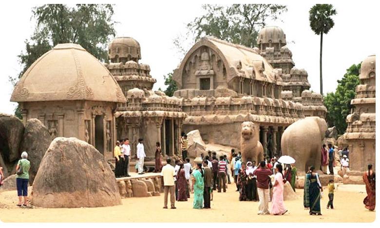 Historic attractions shore temple in Mahabalipuram in south india, నాటి మహాబలిపురమే  నేటి మామల్లపురం