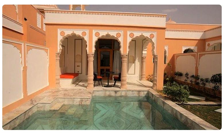 The five-star Buena Vista resort in Jaipur boasts of several luxurious facilities., ' మహా ' ఎపిసోడ్ : జైపూర్ లో కాంగ్రెస్ ఎమ్మెల్యేలకు రాచభోగాలు