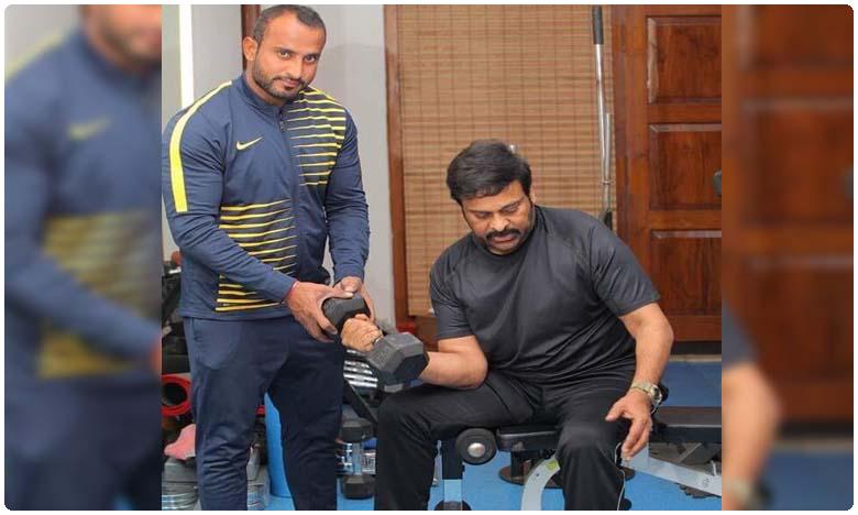 Megastar Chiranjeevi work out picture from gym goes viral, జిమ్లో @ 60 'మెగా హీరో' కసరత్తులు