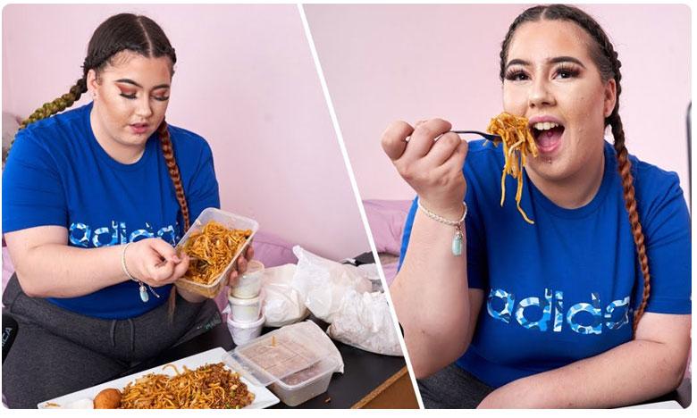 Woman Quits Job To Eat McDonald's and Chinese Takeout, ఇదేదో బాగుంది.. తిండి తింటూ లక్షల్లో సంపాదిస్తోంది.. మీరు ట్రై చేస్తారా..?