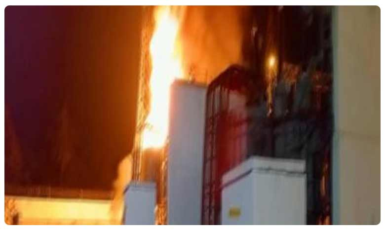 Transformer catches firet in Pattiseema Lift Irrigation Project, పట్టిసీమ ఎత్తిపోతల సబ్స్టేషన్లో అగ్నిప్రమాదం