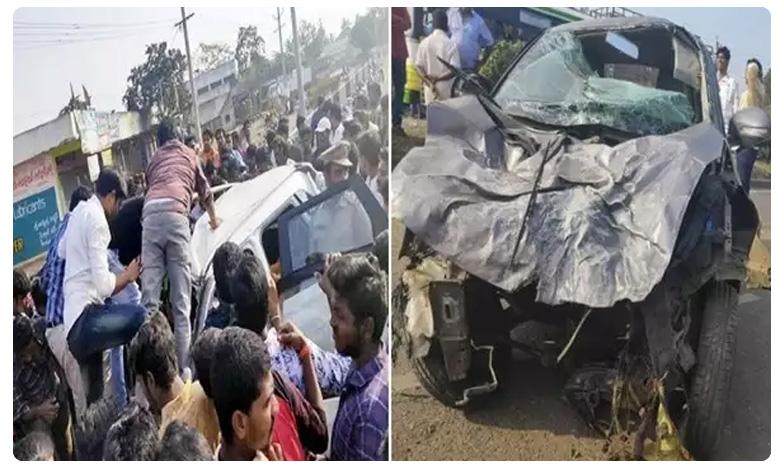 four killed in a road accident in ravulapalem, పండుగపూట విషాదం..రావులపాలెం వద్ద యాక్సిడెంట్లో నలుగురి మృతి