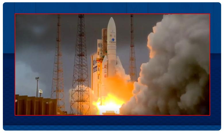 India's first satellite of 2020 Gsat-30 successfully launched from French Guiana, నింగిలోకి విజయవంతంగా దూసుకెళ్లిన జీశాట్-30