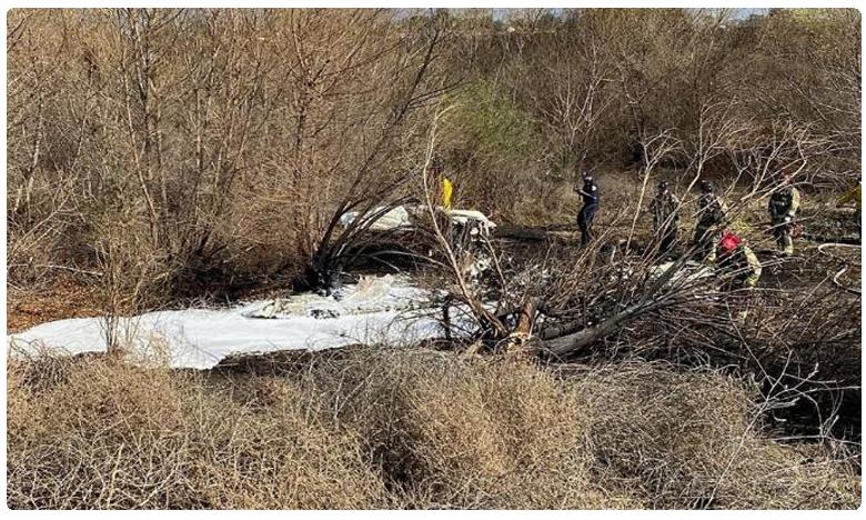 Four killed in fiery plane crash, విమానం కూలి.. నలుగురు మృతి