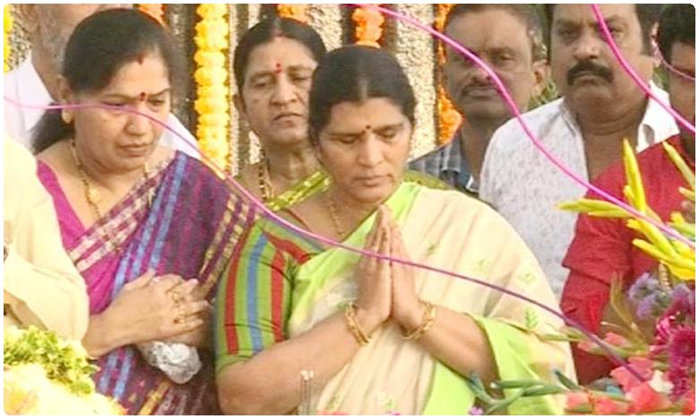 Sr NTR's Wife Lakshmi Parvathi Pays Tribute, మొన్న జరిగిన ఎన్నికలతో ఎన్టీఆర్ ఆత్మ శాంతించింది: లక్ష్మీపార్వతి
