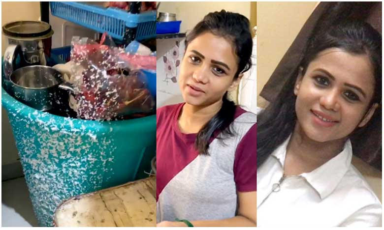 Cooker exploded in a TV Anchor House at Chennai, టీవీ యాంకర్ ఇంట్లో పేలిన కుక్కర్.. తప్పిన పెను ప్రమాదం