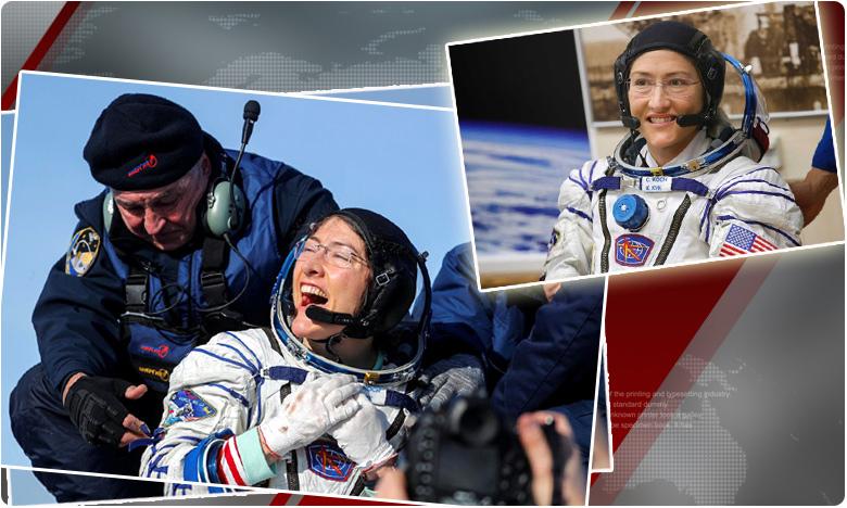 nasa astronout christina koch returns to earth, సురక్షితంగా భూమికి చేరిన నాసా వ్యోమమగామి క్రిస్టినా కోచ్